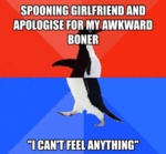 Spooning Girlfriend And Apologize...