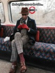 Most Stylish Man On The Tube...