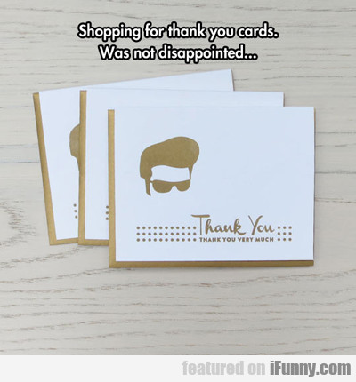 Shopping For Thank You Cards...