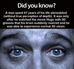 Did You Know A Man Went...