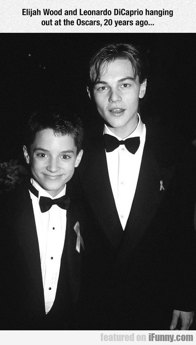Elijah Wood And Leoonardo Dicaprio...