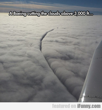 A Boeing Cutting The Clouds...