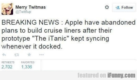 Breaking News - Apple Have Abandoned Plans To..