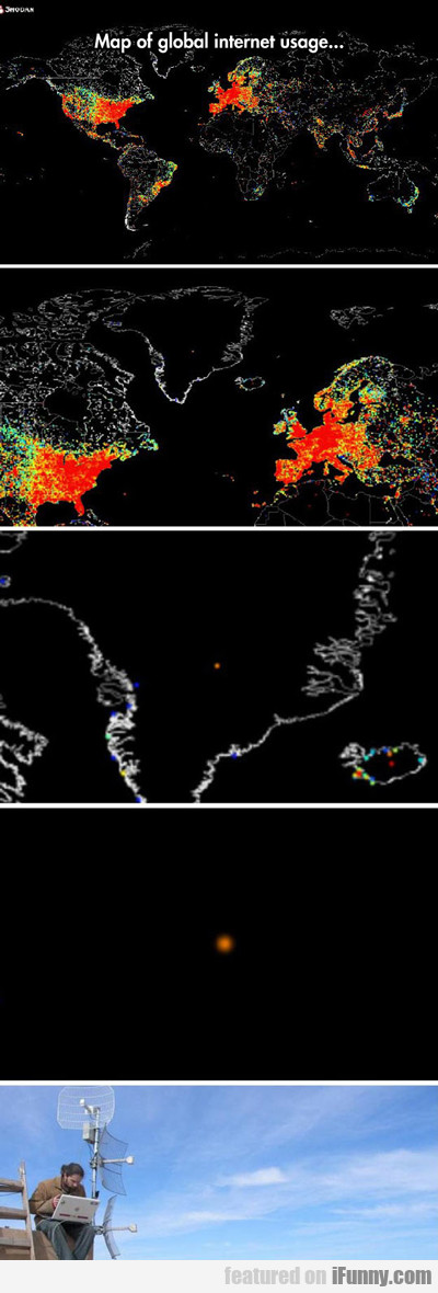 Map Of Global Internet Usage...