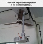 This Is How They Installed The Projector...