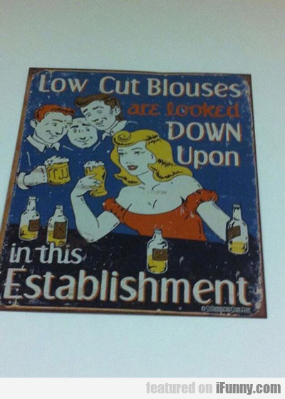 Low Cut Blouses...