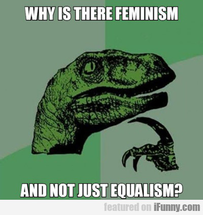Why Is There Feminism And Not Equalism...