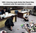 1999: A Divorced Couple Divides...
