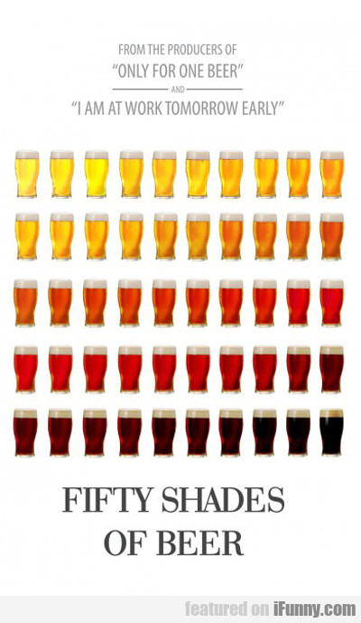 Fifty Shades Of Beer...