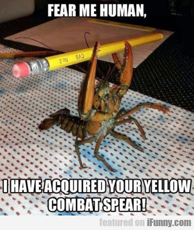 Fear Me Human - I Have Acquired Your Yellow...