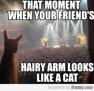 that moment when your friend's hairy arm...