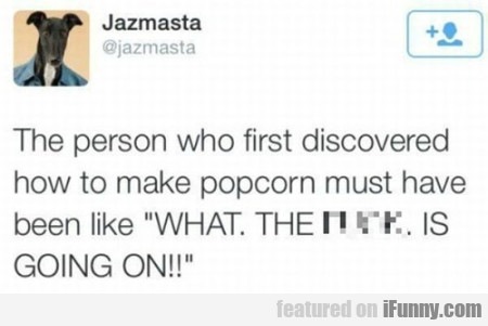 The Person Who First Discovered How To Make...