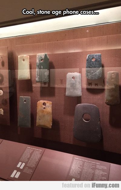 Cool, Stone Age Phone Age Cases...