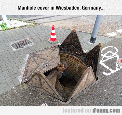 manhole cover is wiesbaden germany...