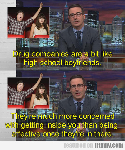 Drug Companies Are A Bit Like High School...