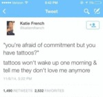 You're Afraid Of Commitment But You Have.