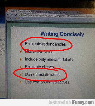 writing conscisely...