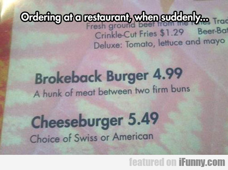 ordering at a restaurant...