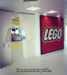 The Entrance To Lego Hq...
