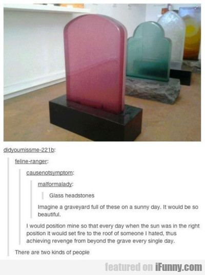 Glass Headstones