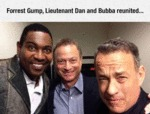 Forrest Gump, Lieutenant Dan And Bubba Reunited...