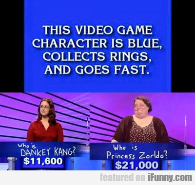 This Video Game Character Is Blue...