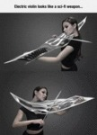 Electric Violin That Looks Like A Sci-fi Weapon...