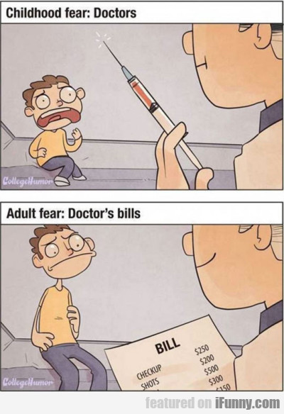 Childhood Fear - Doctors. Adult Fear - Doctor's Bi