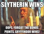 Slytherin Wins...