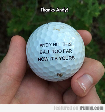 Thanks Andy...
