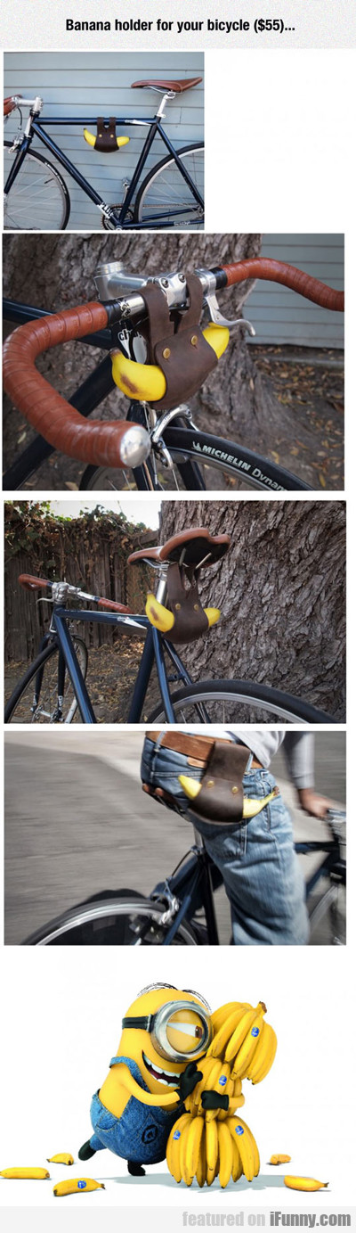 Banana Holder For Your Bicycle...