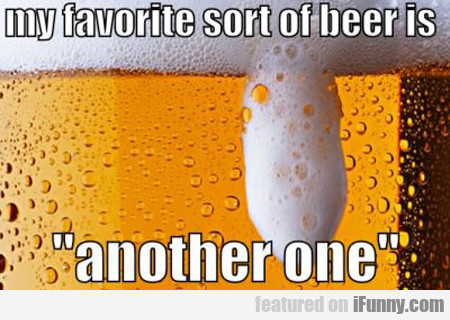 My Favorite Sort Of Beer Is...