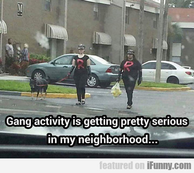 Gang Activity Is Getting Pretty Serious...