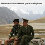 Chinese And Pakistani Border Guards...