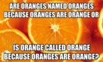 Are Oranges Named Oranges...