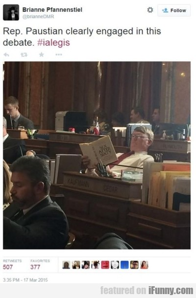 Rep. Paustian Clearly Engaged In This