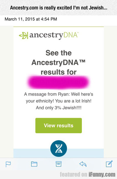 Ancestry.com Is Really Excited I'm...