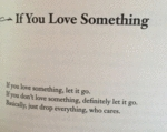 If You Love Something.