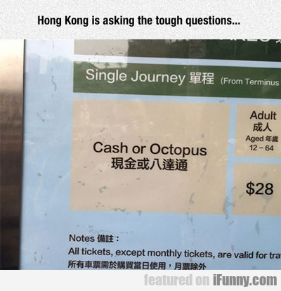 Hong Kong Is Asking The Tough Questions...
