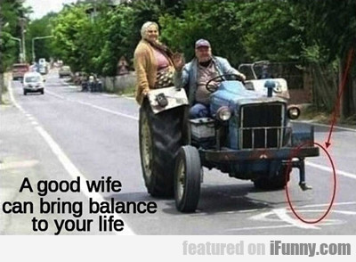 A Good Wife Can Bring Balance To Your Life...
