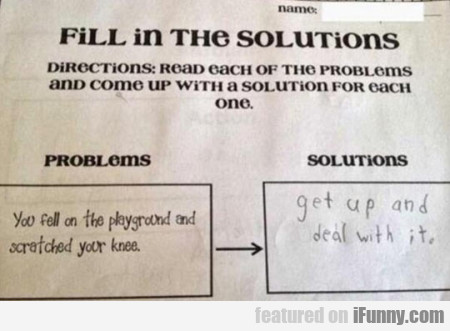 Fill In The Solutions - Directions - Read Each...