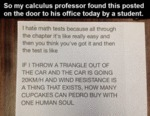 So My Calculus Professor...