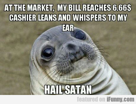 at the market...