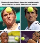 Close Up Pictures Of Tennis Players...