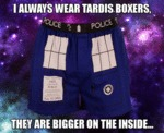 I Always Wear Tardis Boxers...
