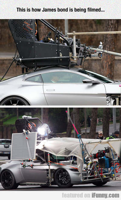 This Is How James Bond Is Being Filmed...