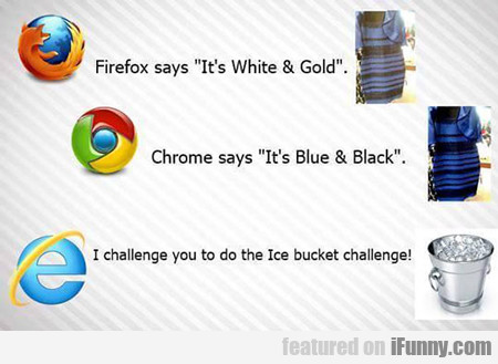 Firefox Says It's White And Gold...