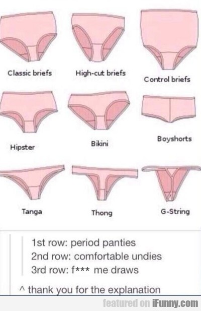 1st Row Period Panties