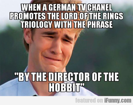 when a german tv channel promotes lord of the...