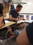 He Asked The Teacher For A Pen...